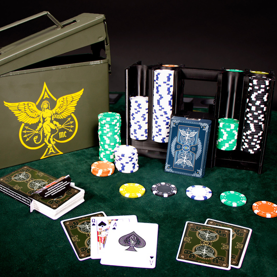 ammo box poker set